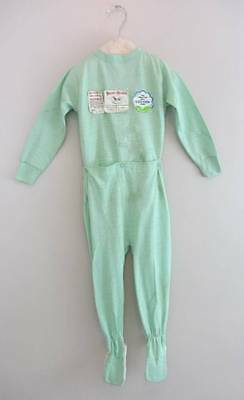 vintage childrens sleep suits Buster Browns 50's mint green age