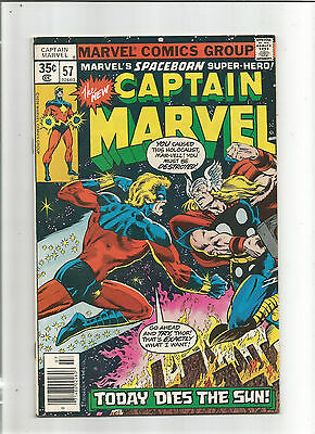 Captain Marvel #57 (Marvel1st Series) Fights Thor, With Iron Man & Thanos Cameos