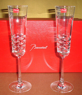 Baccarat LOLA (SET/2) Champagne Flute(s) French Crystal #2611152 New