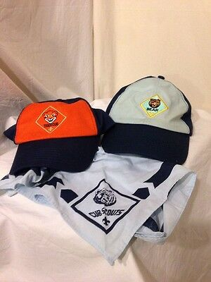 Two Boy Scouts Hats And Neckerchief