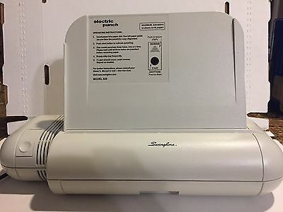 Swingline Commercial Electric 3 Hole Punch, 20 Sheet Capacity, 3 Hole, 74525