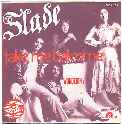 SOLO COPERTINA - COVER ONLY - SLADE - Take me back'ome - FRA EX