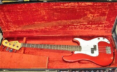 1978 Fender Precision Bass Rare Beautiful Candy Apple Red Original with OHSC