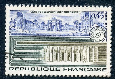 Stamp / Timbre France Oblitere N° 1750 Centre Telephonique Tuilleries