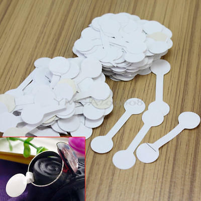 200Pcs Jewelry Ring Bracelet Necklace Price Label Sticker Display Tags White