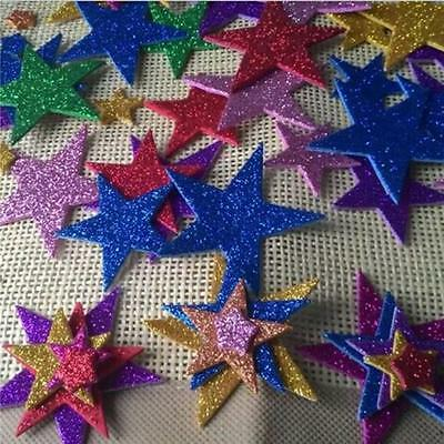 60pcs Mixed Foam Stars Sticker Kids Decooration Art Crafting DIY Supplies JJ