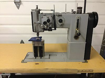 Adler 268  2 Needle Post Walking Foot 3/8 Split Bar Industrial Sewing Machine