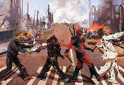 Deadpool Abbey Lane Zombie Picture Poster Home Art Print - Wall Decor New