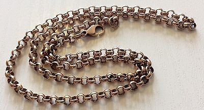 """Fabulous Quality Vintage Heavy Solid 9ct Rose Gold Belcher Neck Chain Superb 19"""""""
