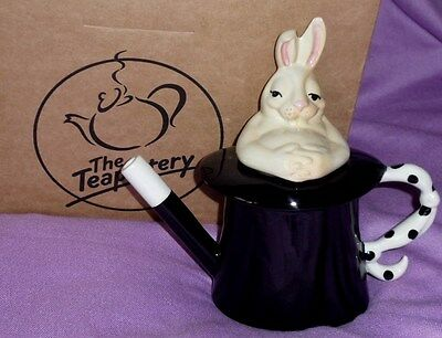 SWINESIDE TEAPOTTERY MAGICIAN'S TOP HAT & RABBIT TEAPOT Boxed