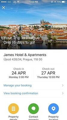 3 Days James Hotel in the Center of Prague (from Booking.com)