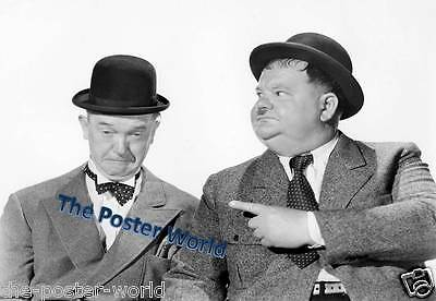 Set Of 3 Laurel and Hardy Signed Autographed Photo Poster Print Wall Art