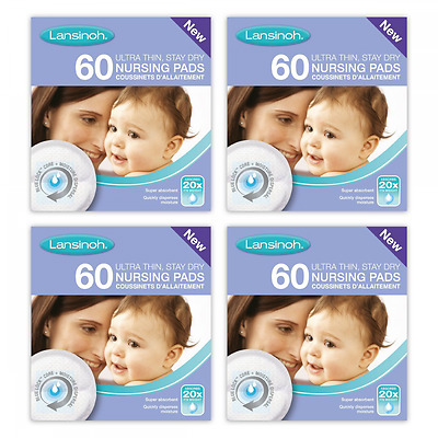 Lansinoh Disposable Nursing Pads baby breast feeding maternity 240 pack 4 x 60