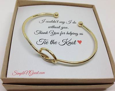 Love Knot Bracelet, Be my Bridesmaid, Help me Tie the knot, Bridesmaid gift