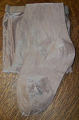 #1331 Danskin Ultra Shimmery Footed Tights Adult's Size A (Small) Light Toast