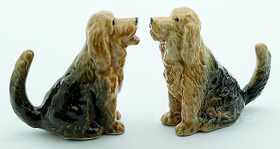 Figurine Animal Ceramic Statue 2 Otterhound Dog - CDG045
