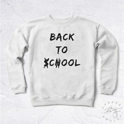91c8d9378b321 NEW Sweat Back To Cool School BIO College University Education Kid Swag Hype