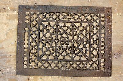 Antique Ornate Metal Cast Iron Floor Heating Vent Grate Hardware Home