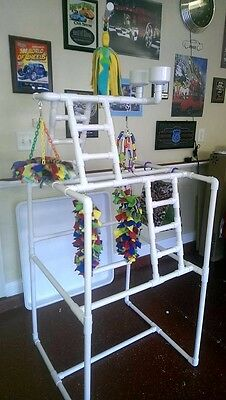 PVC Parrot Play Stand - Our LARGEST FLOOR PERCH *FREE SHIPPING* Birds Love Them