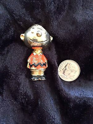 Rare Vintage Cold Paint Charlie Brown Pin Signed U.F.S.