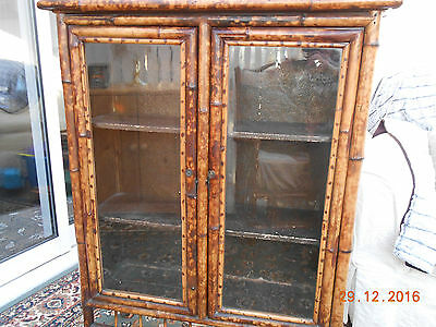 Victorian Bamboo Cabinet - Collection Only
