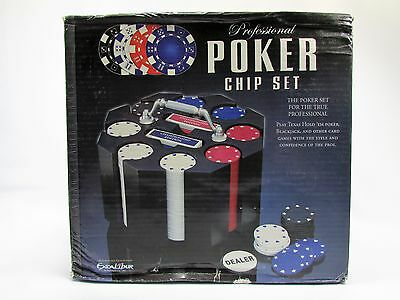 Professional Poker 240 7.5 Gram Casino Quality Chip Wooden Carousel Excalibur