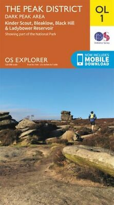 OL1 Peak District Dark Peak Ordnance Survey Explorer Map OL 1 2015