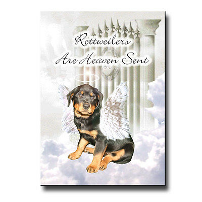 ROTTWEILER Heaven Sent FRIDGE MAGNET DOG Pet Loss