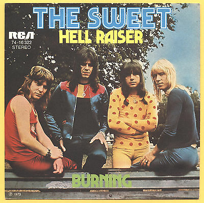 SOLO COPERTINA - COVER ONLY - THE SWEET - Hell raiser - Burning - GER EX