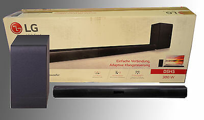 LG DSH5 Schwarz 300 Watt 2.1 Soundbar Wireless Sound Sync Drahtloser Subwoofer