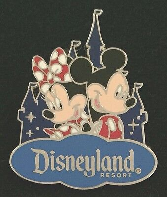 Disney Trading Pin Mickey & Minnie Mouse Disneyland Castle Walt Disney Travel