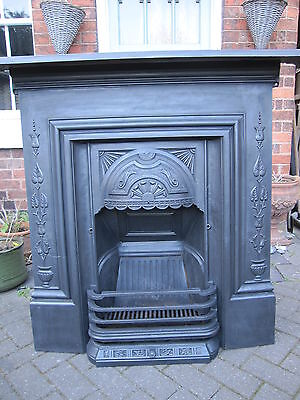 Original Victorian Cast Iron Bedroom Fireplace
