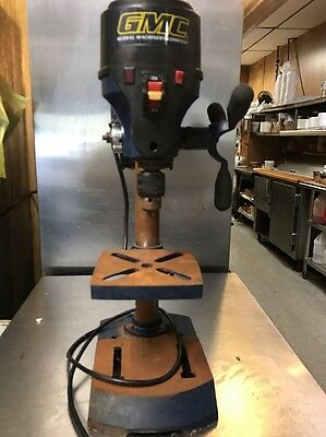 "12"" GMC Drill Press Laser & LED Benchtop 1/2 HP Bench Top Adjustable Table. Used"