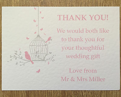 Personalised Vintage Save The Date Wedding cards butterfly birdcage handmade #3