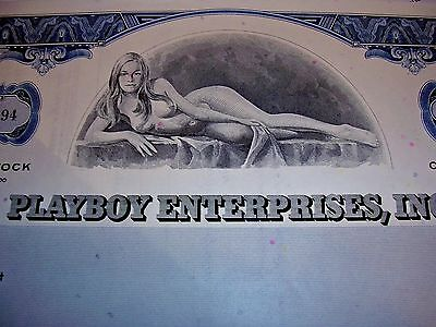 PLAYBOY COMMON STOCK CERTIFICATE. Give a Bunny to your Honey��