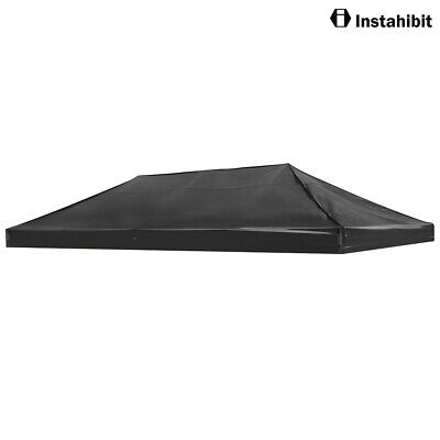 EZ Pop Up Canopy Top Replacement Patio Outdoor Tent For 10x20'(Black Cover Only)