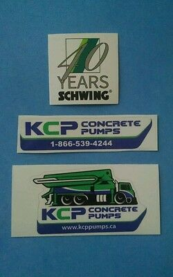 SCHWING 40th Anniversary KCP Concrete Pumps Union Equipment Hardhat Stickers