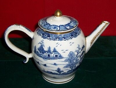 Vintage Early 1800's Chinese Canton Blue & White Teapot