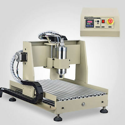four 4 axis 3040 cnc router engraver 800W spindle engraving milling machine