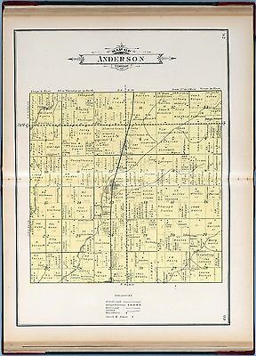1908 RUSH COUNTY INDIANA maps state PLATS old GENEALOGY Atlas LAND OWNER DVD P23