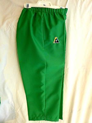 Lawn Bowls Clearance: NEW Domino Ladies 3/4 Pants Size 10 Jade Green FREE SHIP