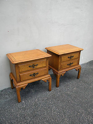Pair of Hollywood Regency Nightstands / End Tables by Thomasville 5015