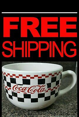 Gibson Coca-Cola Checkered LARGE Coffee Mug, 2003. EXCELLENT CONDITION!