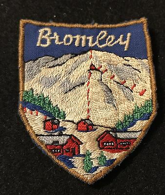 BROMLEY Vintage Skiing Ski Patch Manchester VERMONT VT Resort Travel Souvenir