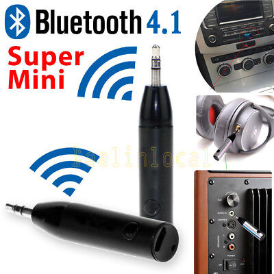 Mini Auto Bluetooth V4.1 Wireless AUX Stereo Music Receiver Audio Adapter Mic