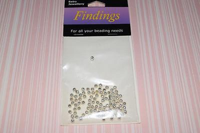 SILVER PLATED ROUND METAL SPACERS  100 x 3mm