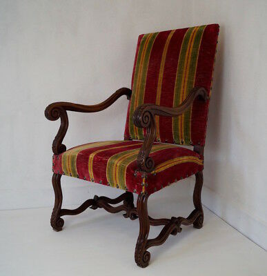 Antique French Louis XIV Upholstered Armchair