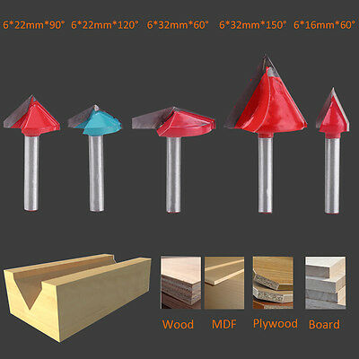 60 90 120 150 Degree V Shape Groove Router Bit CNC Engraving Chamfer Woodworking