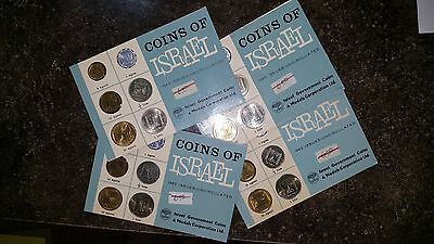 1963 Coins of Israel 6 Coin Brilliant Uncirculated Set Original Mint Packging