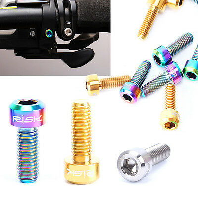 Newly Bike Screws Titanium Alloy Mountain/Road Bicycle Thumb Shifter Fixed Bolts